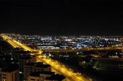 View N at night