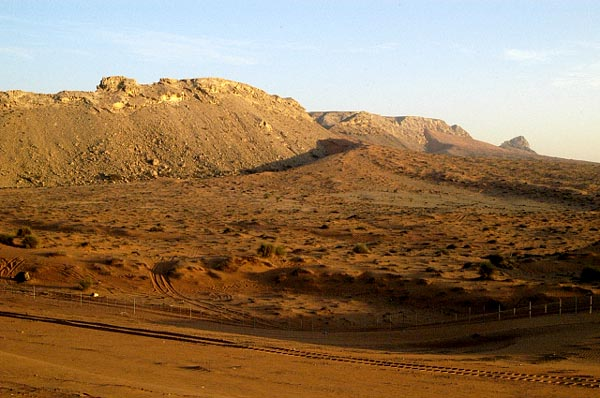 Western slope of the Hajar Mountains