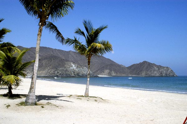 Khorfakkan has a beautiful beach