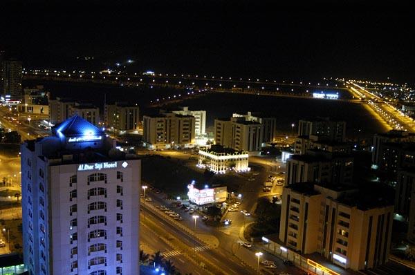 View NW at night