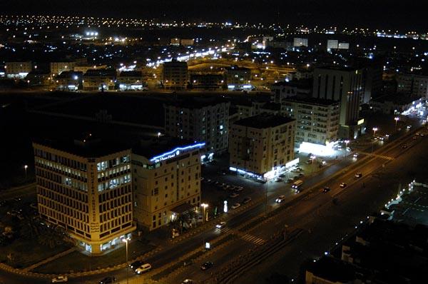 View NE at night