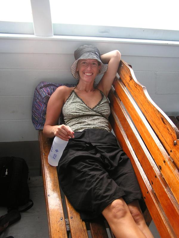 Relaxing on the ferry back to Samui