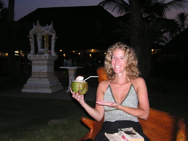 Its all about the coconut juice in Thailand
