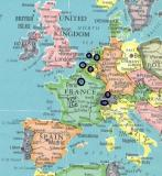 Destinations for this trip are circled in black