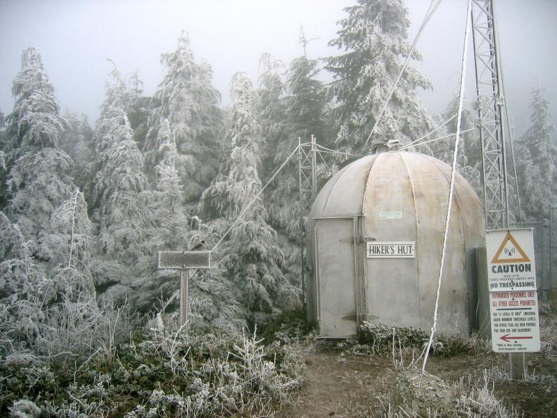 Frozen hikers hut