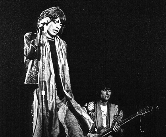 Rolling Stones; Mick Jagger, Ron Wood