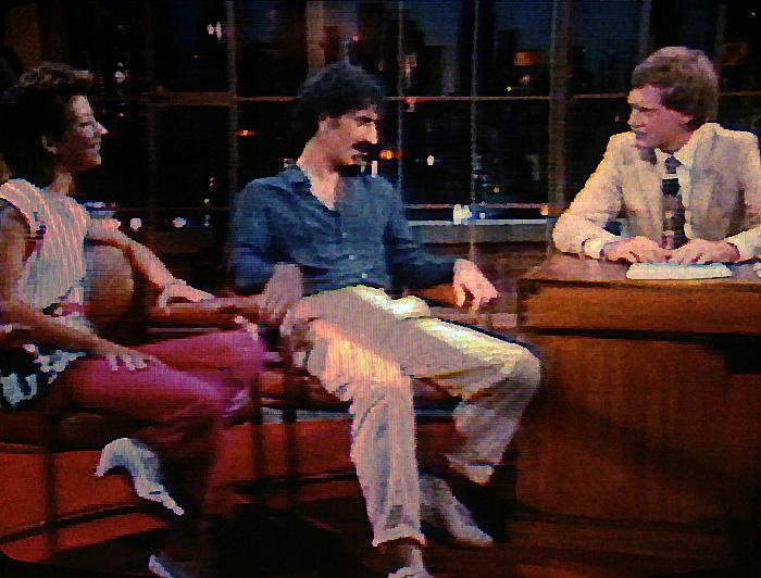 Frank & Moon Zappa at the David Letterman talkshow 1982 <!--kbd2031-->