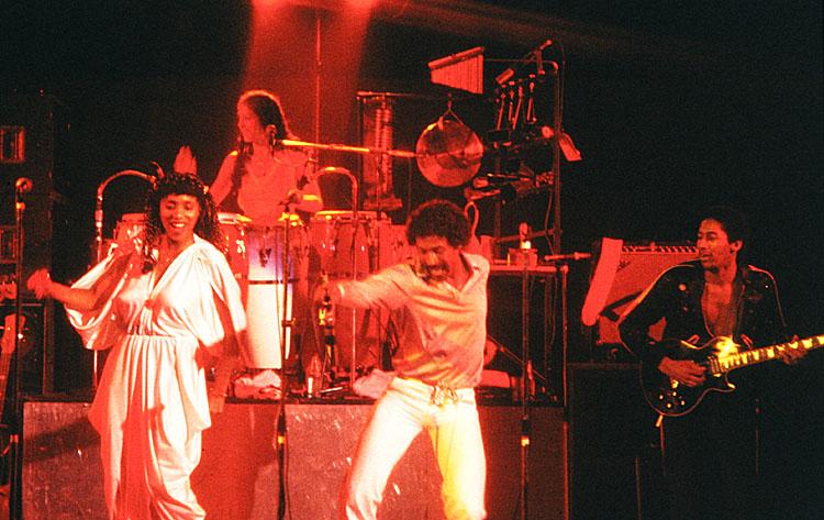George Duke band: Lynn Davis, Sheila Escovedo, Napoleon Murphy Brock & David Myles