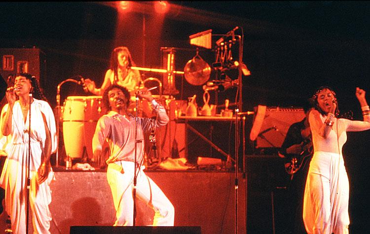 George Duke band: Lynn Davis, Sheila Escovedo, Napoleon Murphy Brock & Josie James