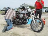 THIS TWIN ENGINED HARLEY JUST COULDN'T GET IT TO RUN RIGHT AND ONLY RAN 117 MPH, BUT WHAT A SOUND IT HAD