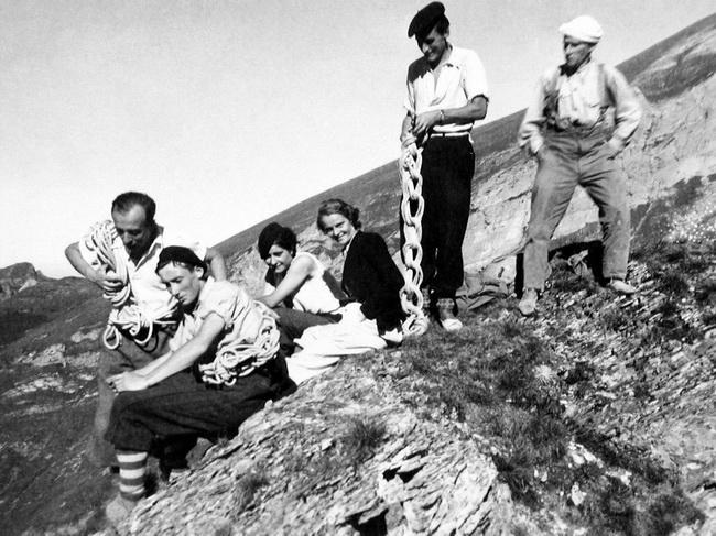 Pene Sarrieres le 7 octobre 1934, à Gourette
