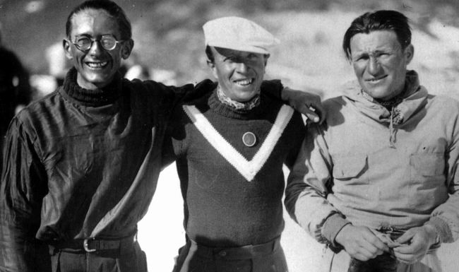R. Ollivier, R. Villecampe et Romano à Gourette