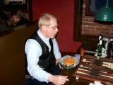 Dave McCargar handles a hot potato