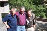 The President of World Jewry and board chairman , Norman Meyer (R) with his brother, Alec Meyer (L) and cousin, Mervyn Shapiro