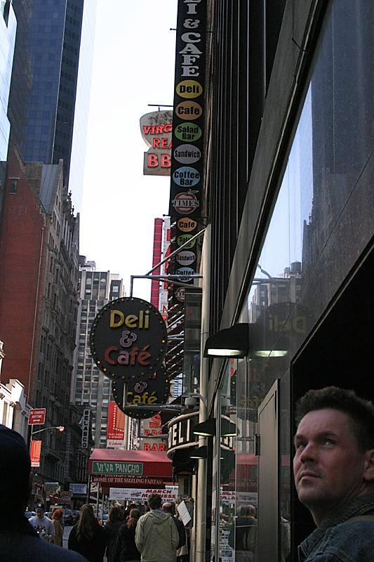 Walking down 42nd Street