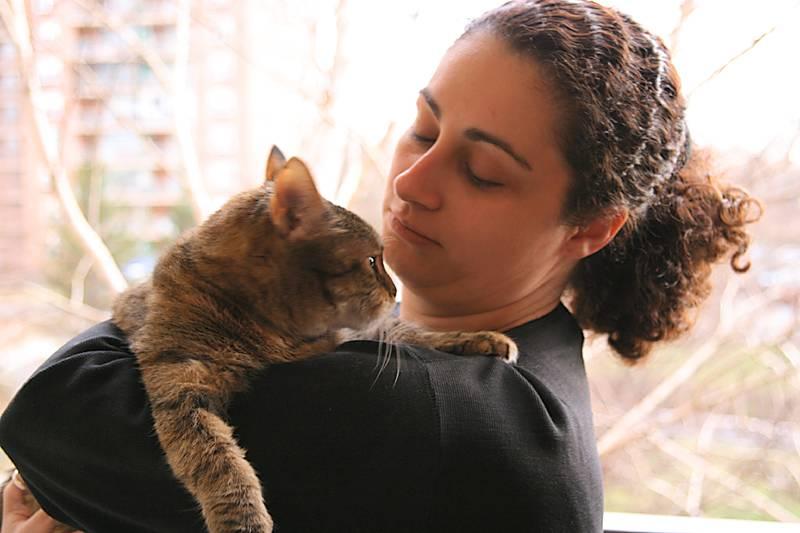 Lara and her lovely cat