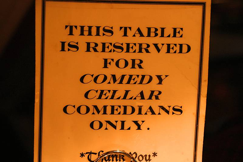 Our table at the Olive Tree is reserved for comedians!!