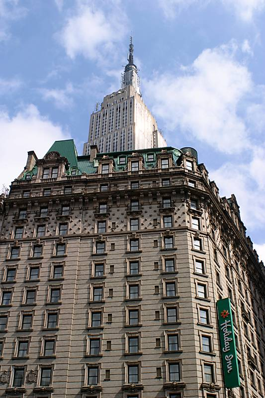 Our hotel....and the Empire State Building