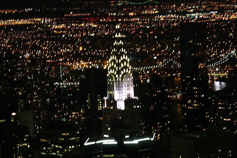The Chrysler building from the top of the Empire State Building