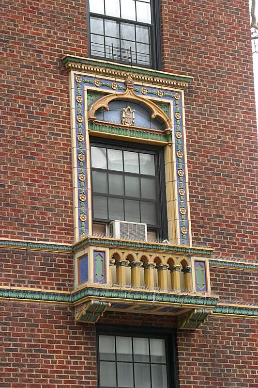 An ornate window detail