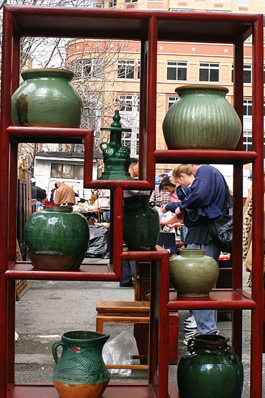 Pots in the flea market