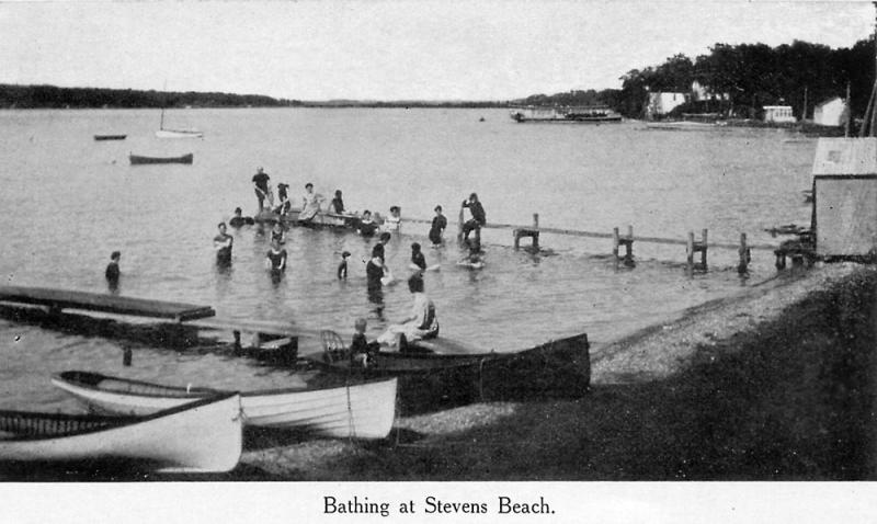 Bathing at Stevens Beach