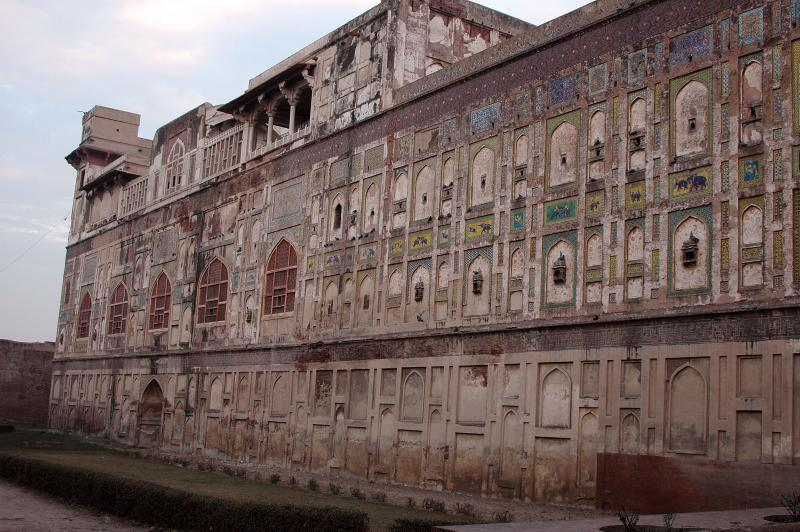 Lahore Fort - Mosaic outer wall