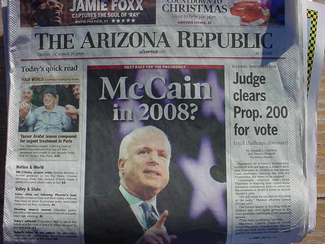 McCain in 2008, yes!