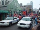 THE START OF THE PETE FOUNTAIN HALF FAST WALK PARADE THE ONLY ONE ALLOWED ON BOURBON ST