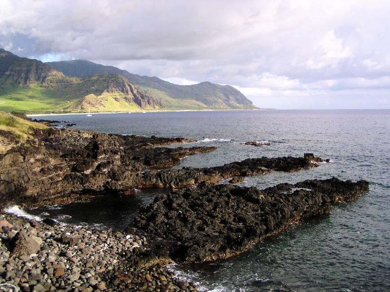 Leeward Oahu, fingers of lava