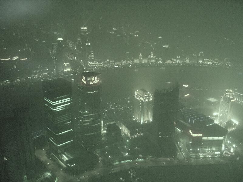 Shanghai view from Jin Mao at night