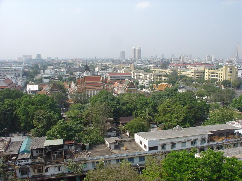 Bangkok View from Wat Saket