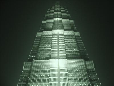 Shanghai Jin Mao at night