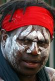 Close up of aboriginal man