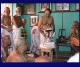 U.Ve. V.N. Vedanthadesikan Swami (Extreme left) during the release of Bhagavath Dhyana Sopanam