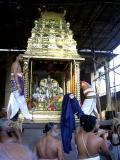 Parthasarathi inside the newly made punniya koti vimanam