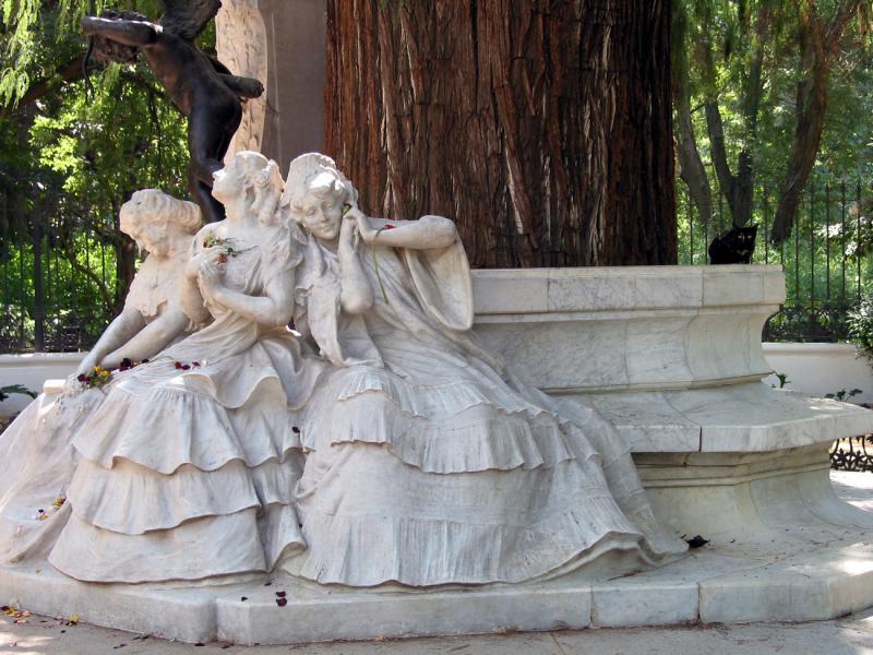 Sculpture in Maria Louisa Park