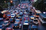 Traffic in Bangkok twilight