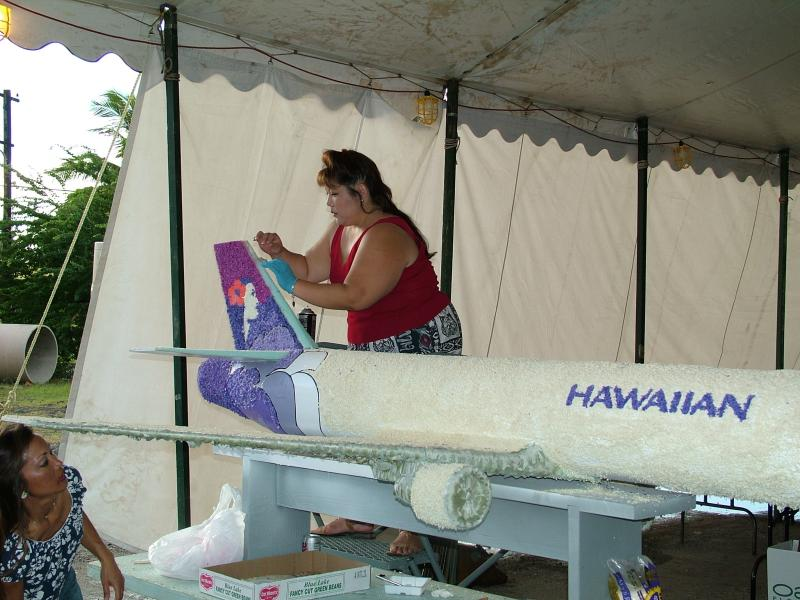 Making the Hawaiian Airlines Float