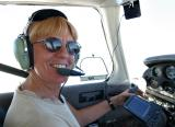 Sue as pilot-in-command