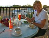 Sue at Sedona airport, Arizona