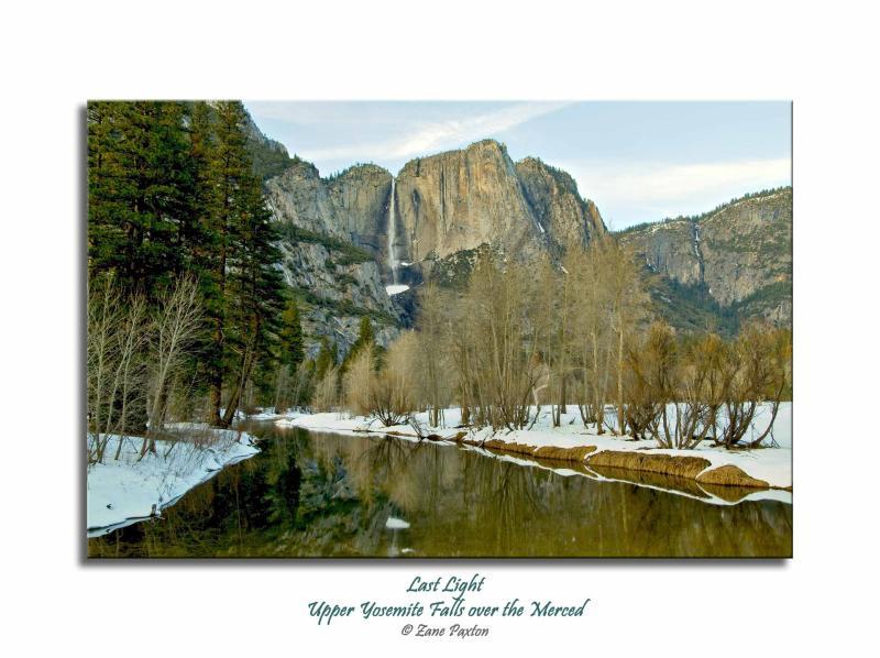 Last-Light, Upper Yosemite Falls over the Merced