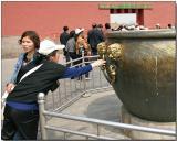 Touching for luck - Forbidden City, Beijing