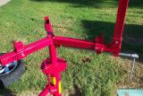 Here you can see the clamps used by the tire changing stand. They came installed backwards, I had to turn them around.