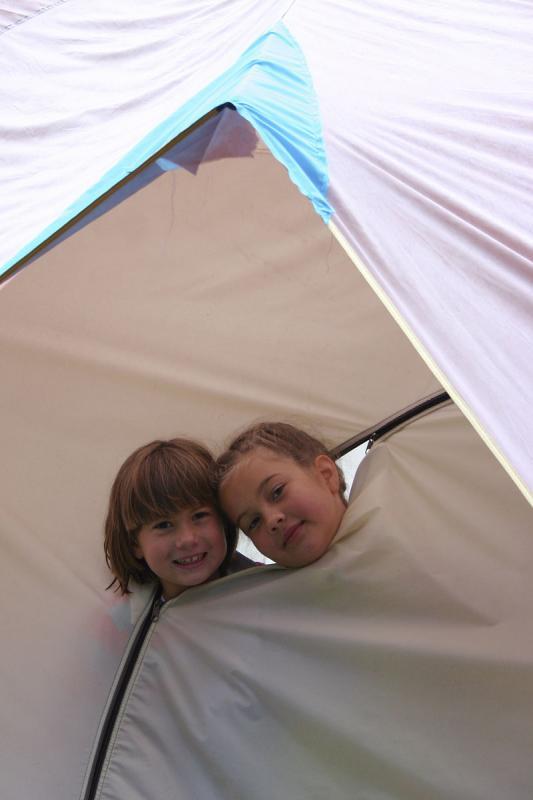 polar bears in their tent