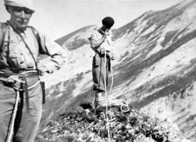 Herbert Wild (Jacques Deprat) sur le Pene Sarrieres