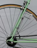 Close up of the shift mechanism on the 1946 Bianchi