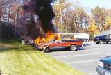 Truck fire on Consitution Blvd. (Shelton) 10/00