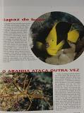 Varias participações com fotos na seção Qual e a sua bicho sobre biologia marinha incluindo esta edição.