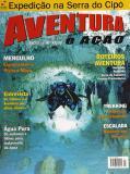 Foto e texto da matéria sobre a Riviera Maya no México. Na foto da capa desta edição também de min ha autoria aparece o mergulhador Osmar Rodrigues na caverna Dos Ojos.
